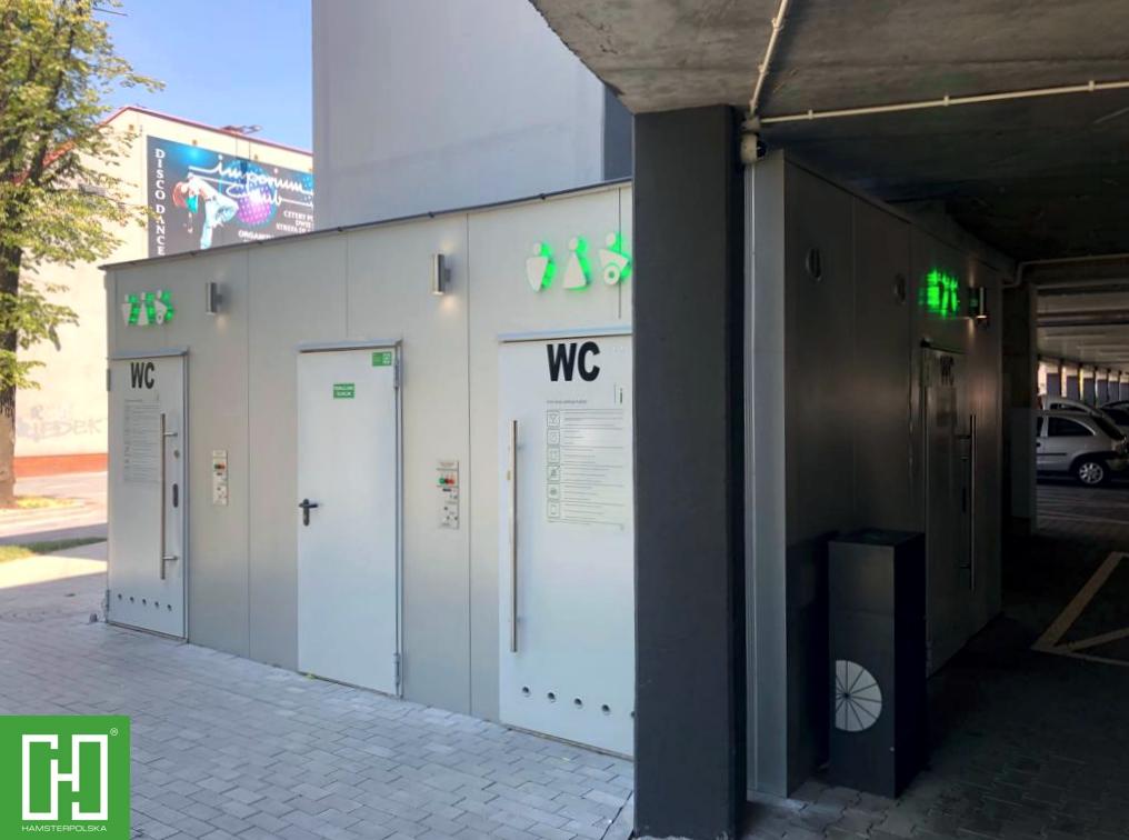 Automatyczne toalety publiczne Papilio Uno Primo w Rybniku