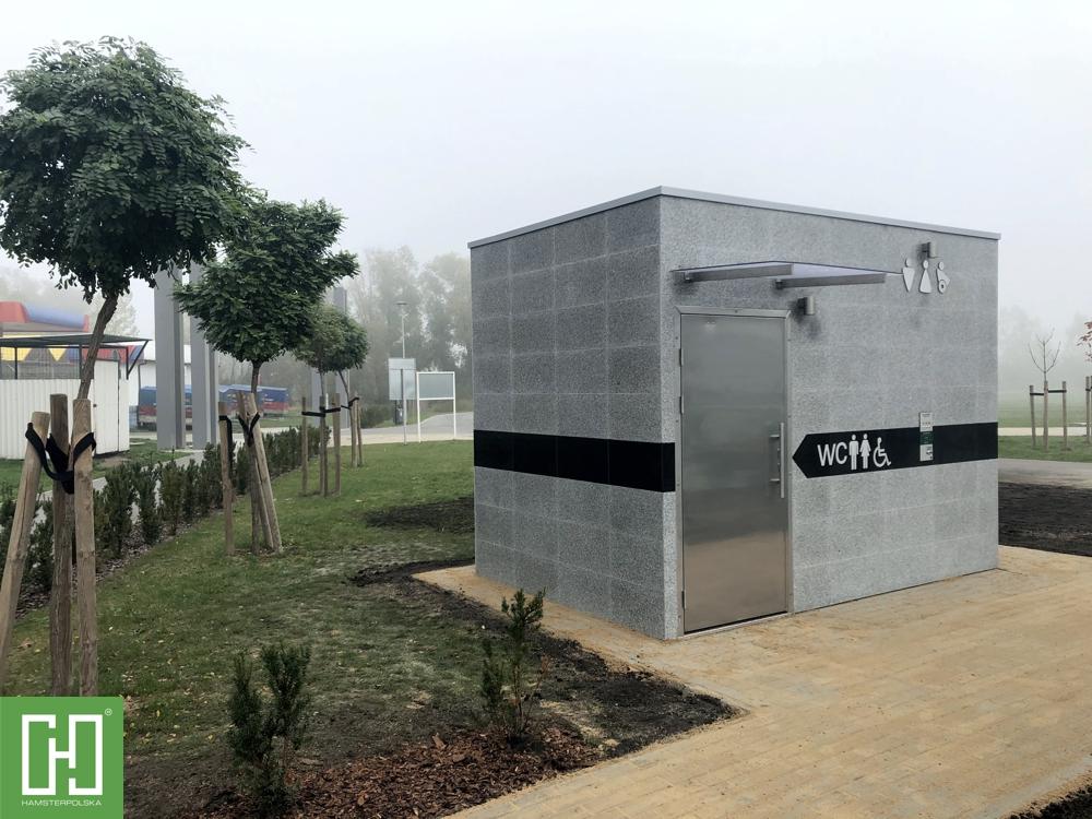Automatyczna toaleta publiczna Phoenix UNO Granit Szary w Barcinie