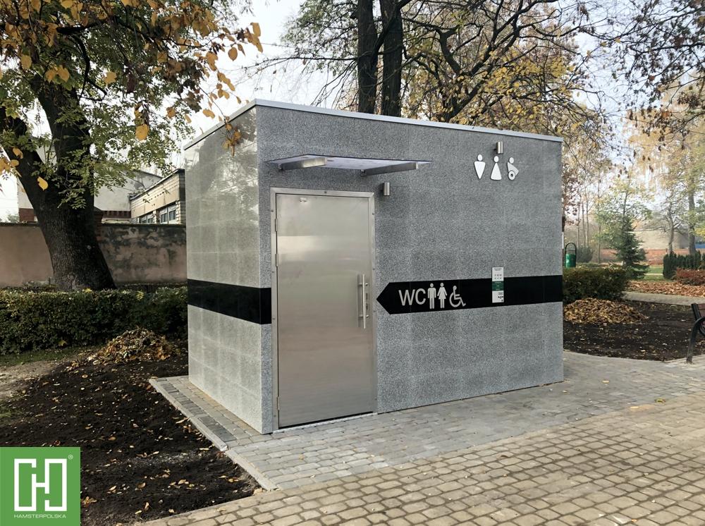 Automatyczna toaleta publiczna Phoenix UNO Granit Szary w Piechcinie