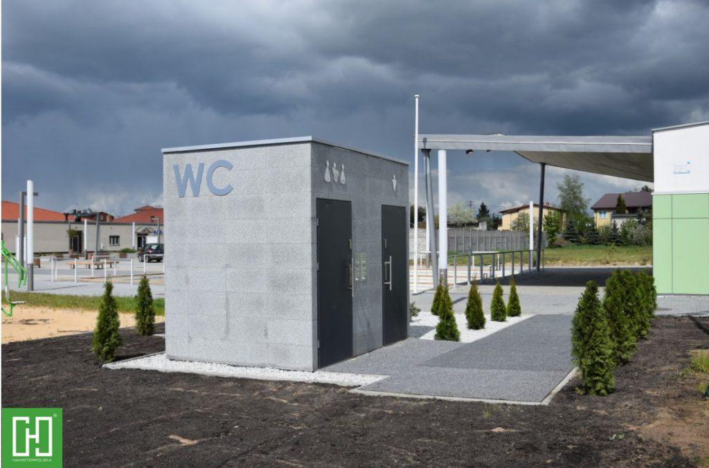 Automatyczna toaleta publiczna Papilio DUO Granit Szary w Lubiczu